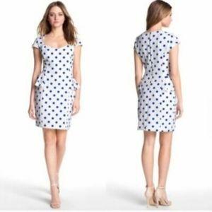 Betsey Johnson Blue and White Pok a Dot Dress